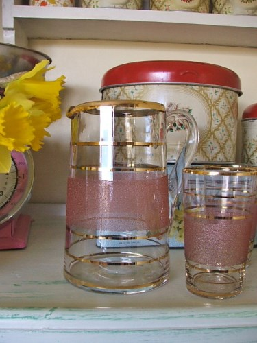 1950's Jug and Glasses