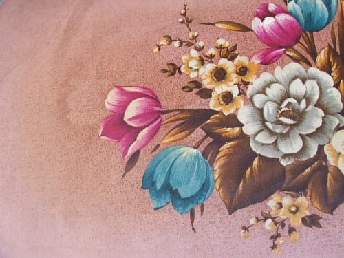 Pretty Vintage Floral Ottomon