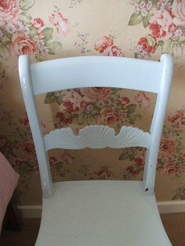 Pale Blue Painted Wooden Chair