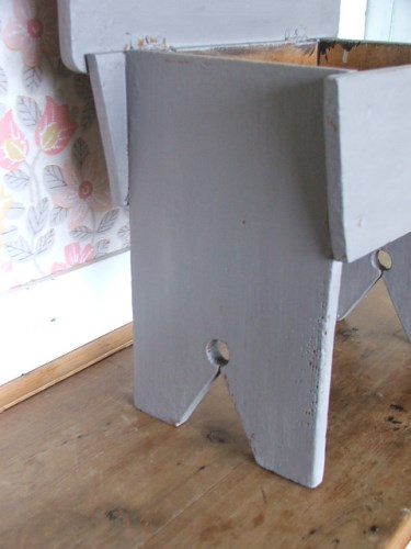 Vintage Painted Wooden Stool