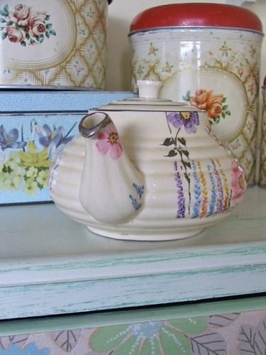 Floral Pottery teapot