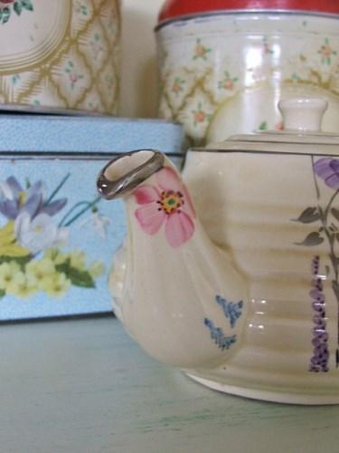 Old Floral Teapot