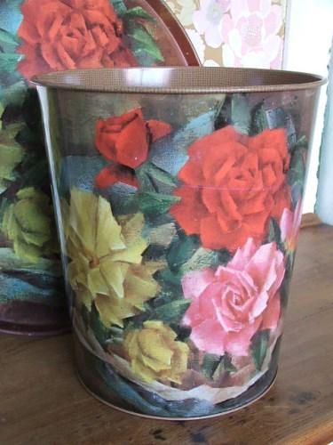 Floral Worcester Ware Waste Bin