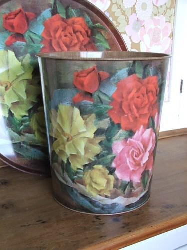 Floral Worcester Ware Bin