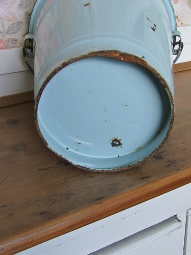 Old Vintage Enamel Bucket