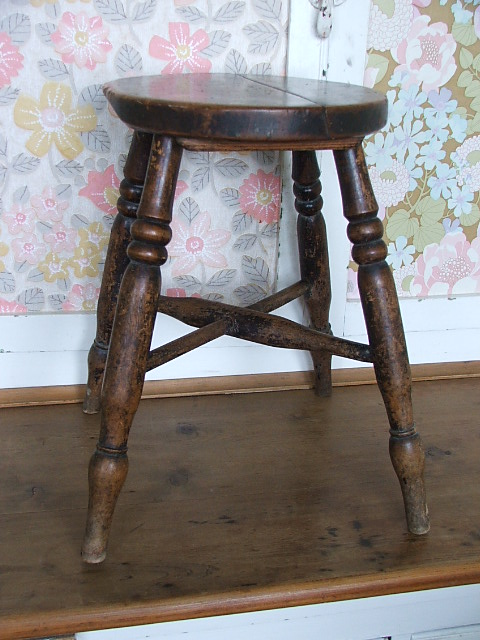 Old vintage wooden stool