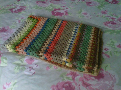 Pretty Vintage Crochet Blanket