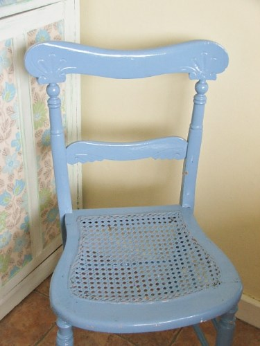 Old Blue Painted Chair