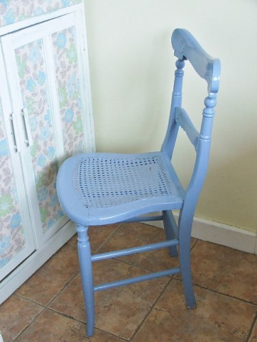 Old chippy painted wooden chair