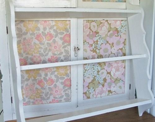White Painted Wooden Shelf Unit