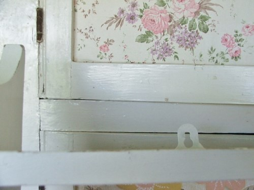 White Wooden Painted Shelves
