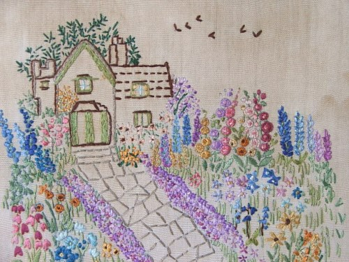 A Garden is a Lovesome Thing embroidery