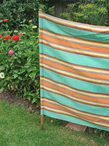 Old vintage windbreak