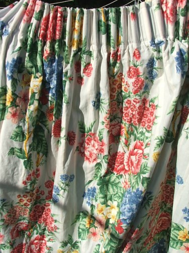 Pair of vintage floral curtains