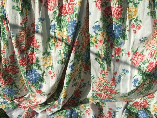 Pretty Floral Vintage Curtains