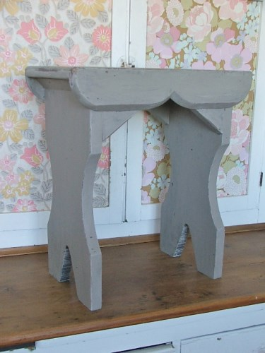 Painted Wooden Stool/Side Table