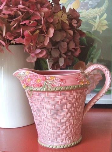 Pretty Pink Floral Jug