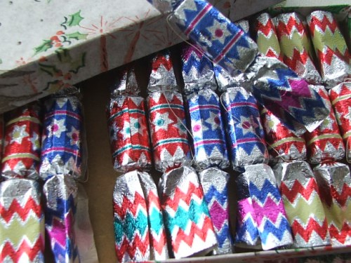 Small vintage Christmas crackers