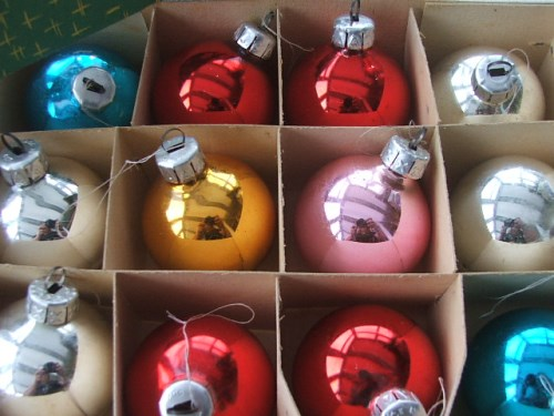 Vintage Christmas Tree Baubles