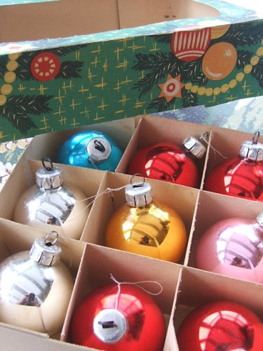 Vintage Glass Tree Baubles