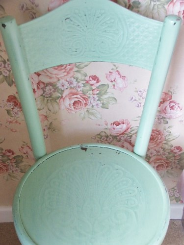Apple Green Painted Bentwood Chair