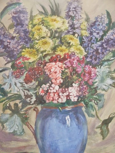 Pretty Vintage Floral Painting