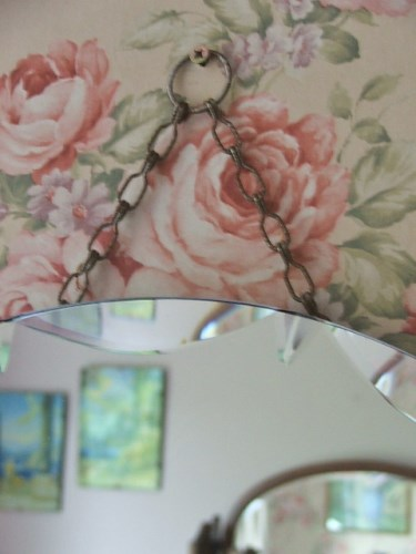 Retro Circular Bevelled Mirror