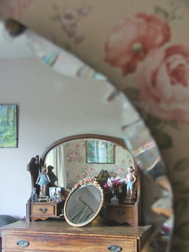 Vintage Oval Bevelled Mirror