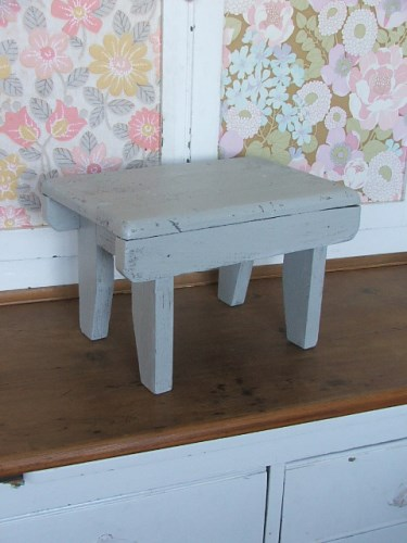 Small Wooden Painted Stool