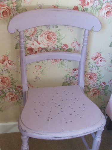 Pink Painted Bedroom Chair