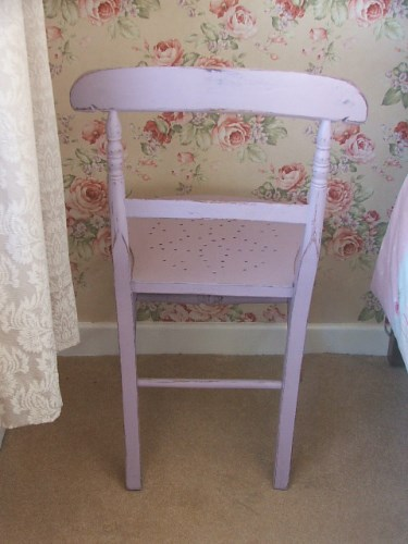 Pink Painted Wooden Chair