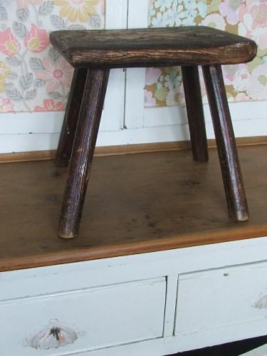 Old vintage wooden stool