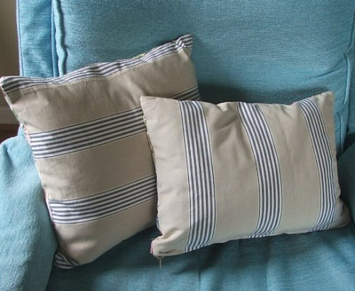 Ticking Reverse of Cushion Cover