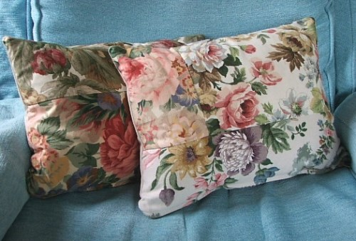 Pretty Handmade Patchwork Floral Cushion Cover