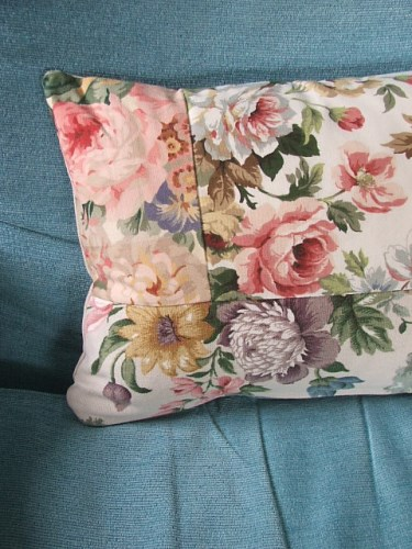 Pretty Handmade Floral Cushion Cover