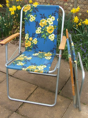 Metal Retro Folding Deckchair