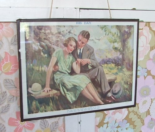 Vintage His and Hers Wedding Prints