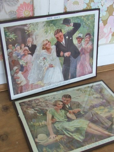 Pair of Vintage Wedding Prints