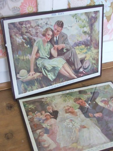 His Day and Her Day Vintage Wedding Prints