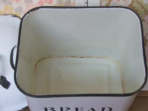 Old Chippy Enamel Bread Bin