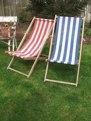 Pair of vintage deckchairs