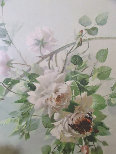 Decor for a Rose floral print