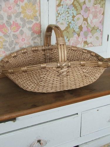 Faded Wicker Trug Basket