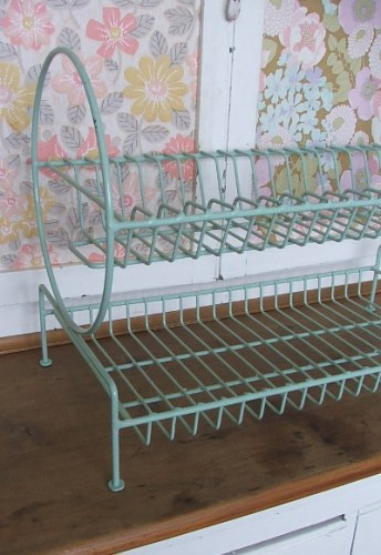 Pale Green 1950's Plate Rack