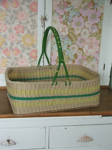Vintage Wicker Shopping Basket