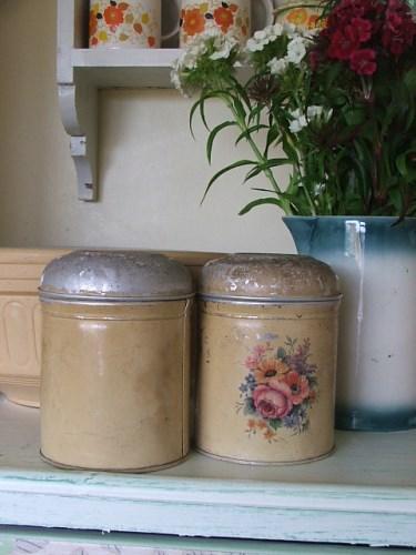 Vintage Coffee and Sugar Tins