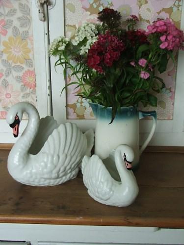 Pair of Dartmouth Swan Vases