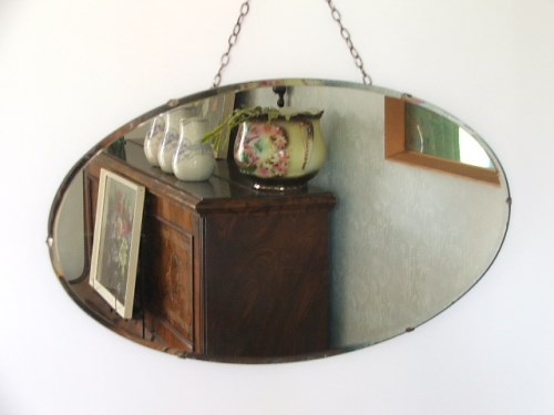 Retro Oval Wall Mirror