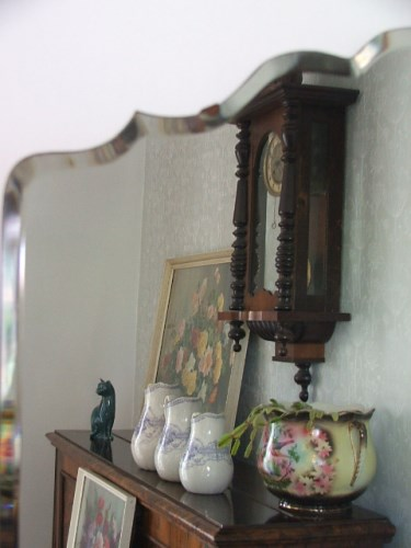Vintage Scalloped Edge Wall Mirror