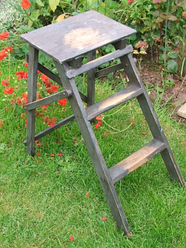 Vintage Folding Wooden Step Stool